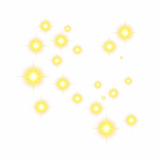 黄色光点星光效果装饰855473png矢量图片素材