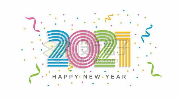 创意糖果色2021年艺术字体855735png矢量图片素材 字体素材-第1张