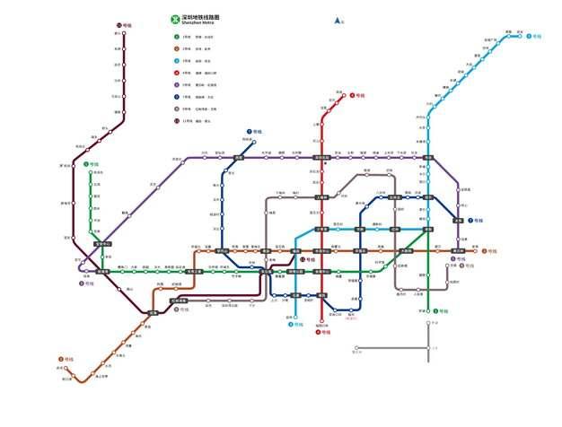 深圳地铁线路图图片素材