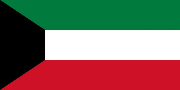 标准版科威特国旗图片素材 科学地理-第1张