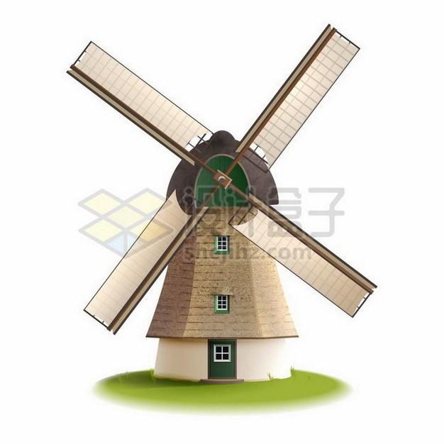 一座荷兰大风车354816png矢量图片素材 建筑装修-第1张