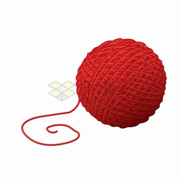 红色的毛线球png图片素材