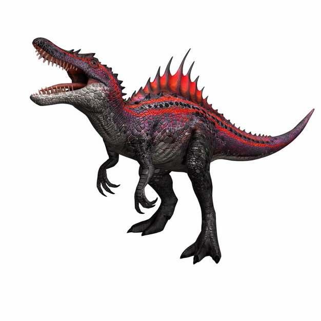 凶猛的红色棘龙肉食性恐龙171176png免抠图片素材