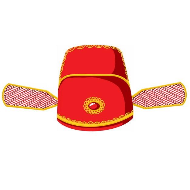 卡通红色古代官帽明朝官员戴的帽子戏曲帽子乌纱帽png图片素材 生活素材-第1张