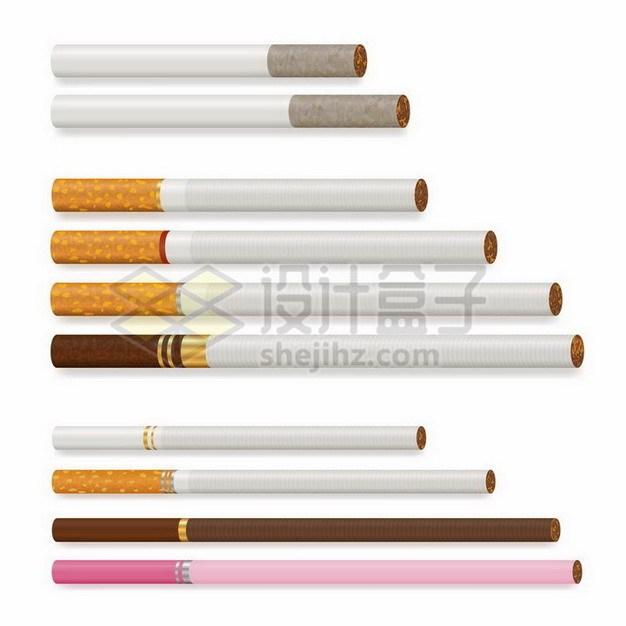各种长短不一粗细不一的香烟254337png矢量图片素材 健康医疗-第1张