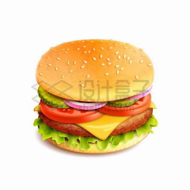 一个蔬菜牛肉汉堡193772png矢量图片素材