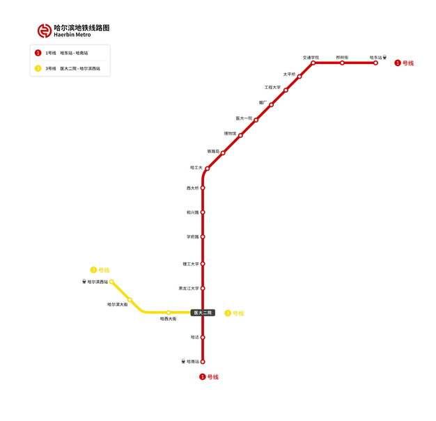 哈尔滨地铁线路图图片素材