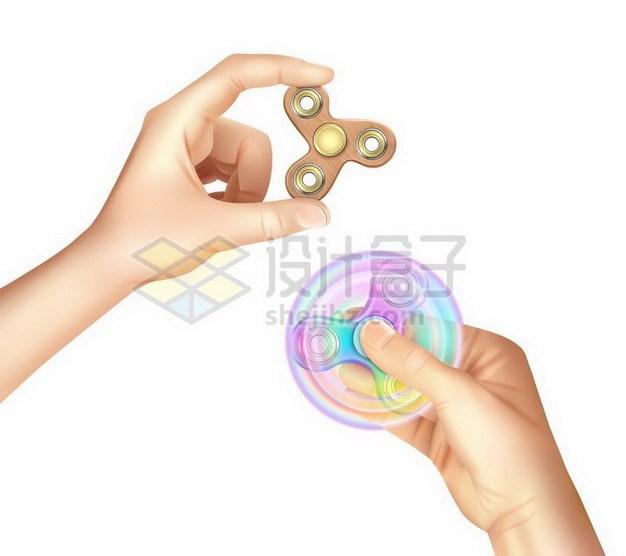两只手拿着指尖陀螺成人玩具624406png矢量图片素材 休闲娱乐-第1张