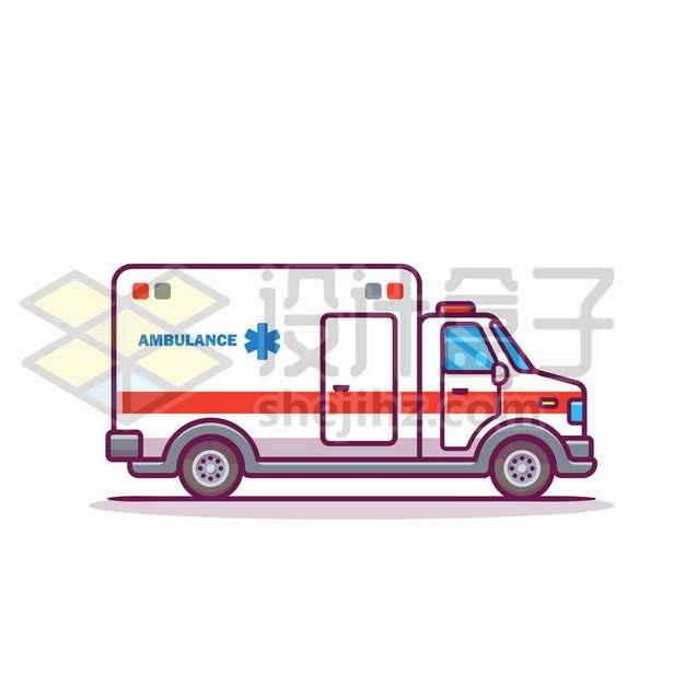 MBE风格卡通救护车900406png免抠图片素材