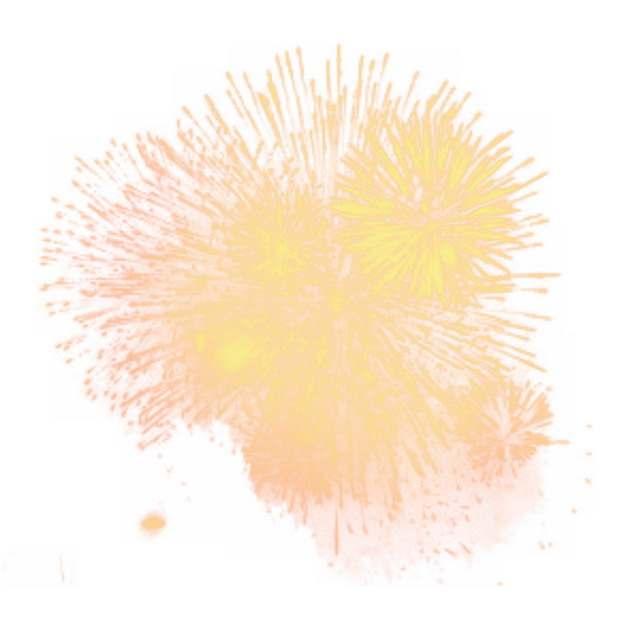 逼真的黄色烟花礼花绽放效果431913png图片素材