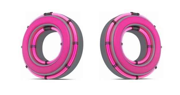 C4D风格粉红色3D立体数字零0艺术字体129036免抠图片素材