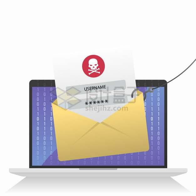 黑客钓鱼盗取用户账户密码信息网络个人信息安全问题png图片素材