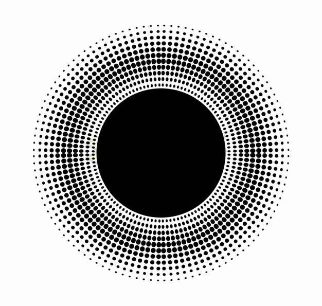 黑色圆点组成的圆形标题框文本框png图片素材