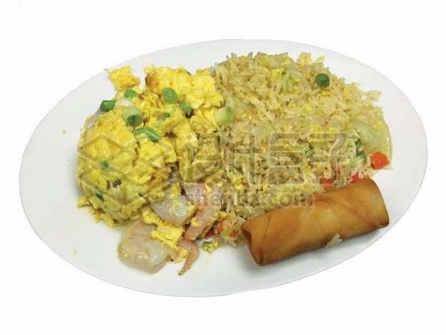 虾仁炒鸡蛋和蛋炒饭892238png免抠图片素材