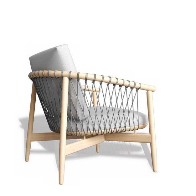 木制单人沙发椅子416004免抠图片素材
