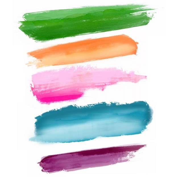彩色涂鸦油墨水彩色块204347png图片免抠素材