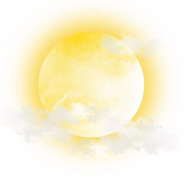 黄色的月亮和云层395131免抠图片素材