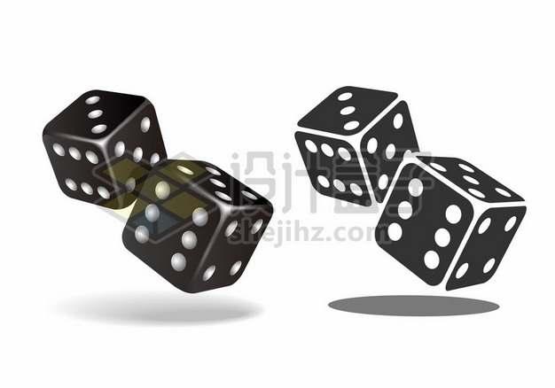 黑色的骰子284754png免抠图片素材