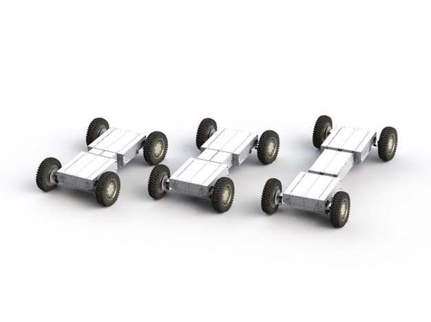 三种轴长的电动汽车底盘255647png图片免抠素材