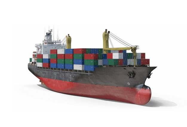 一艘集装箱货轮巨型轮船117971png图片免抠素材