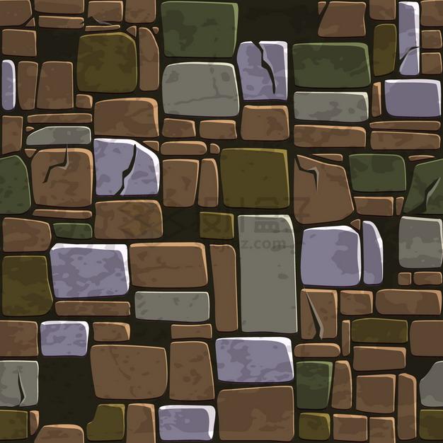 卡通石头石块背景纹理图png图片素材 材质纹理贴图-第1张