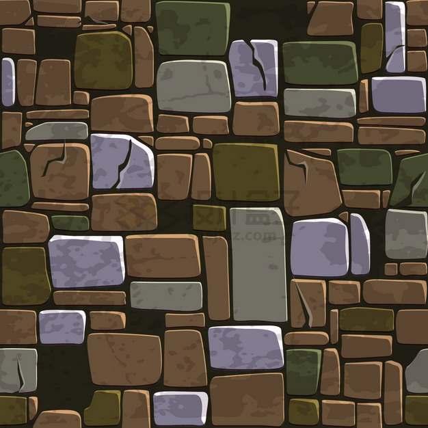 卡通石头石块背景纹理图png图片素材