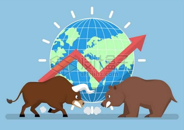 股市上的牛市和熊市197293png矢量图片素材