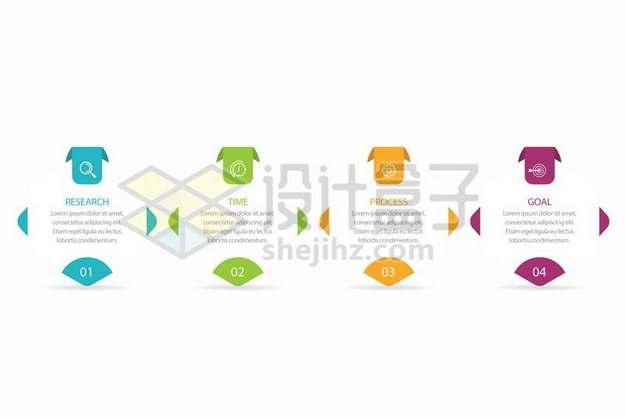 彩色标签PPT信息图表流程图序号图946010免抠矢量图片素材