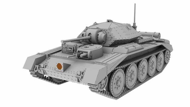 一辆二战坦克3D模型883085png图片免抠素材