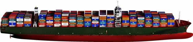 一艘集装箱货轮巨型轮船566617png图片免抠素材