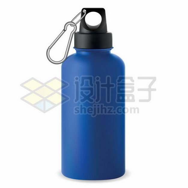 带卡扣的蓝色运动水壶铝壶869712png矢量图片素材