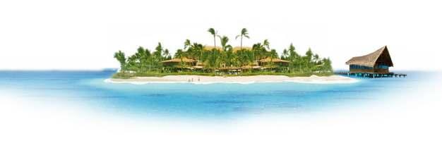 蓝色大海上的小岛和小木屋旅游风景图428072png图片素材