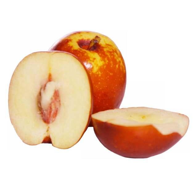 两颗切开的红枣露出枣核和果肉561869png免抠图片素材