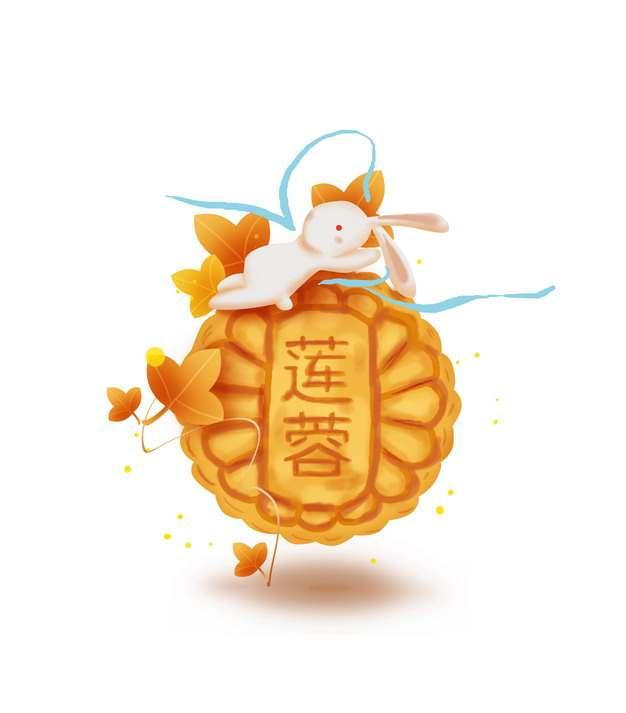 超可爱玉兔和莲蓉月饼中秋节790248免抠图片素材