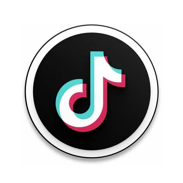 抖音Tik Tok标志logo圆形按钮735962免抠图片素材