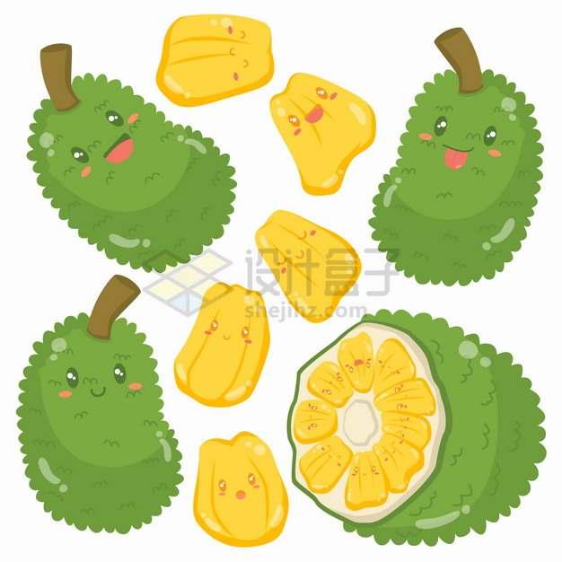卡通菠萝蜜美味水果png图片素材