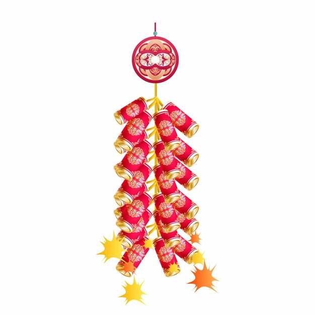 新年春节过年一串鞭炮喜庆装饰740252AI矢量图片素材