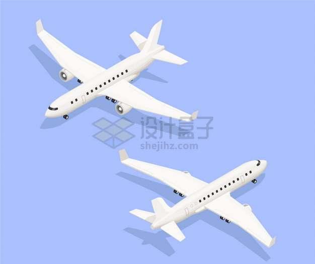 白色的中型客机飞机8764364png图片素材