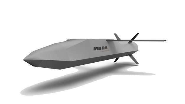 展开翅膀的欧洲导弹集团生产的空地导弹滑翔炸弹711772png图片免抠素材