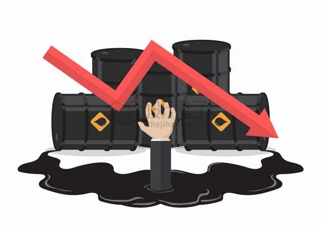 石油价格下跌导致投资者被套牢了经济危机金融危机png图片素材