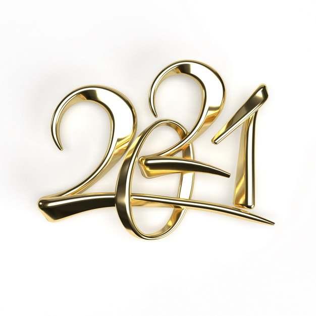 金色金属色风格2021立体艺术字体344675免抠图片素材