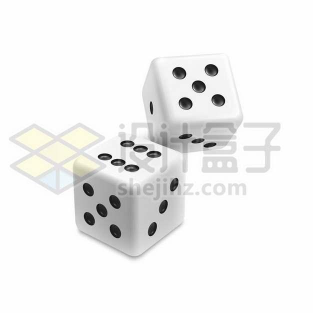 两颗圆角骰子麻将色子529641矢量图片免抠素材
