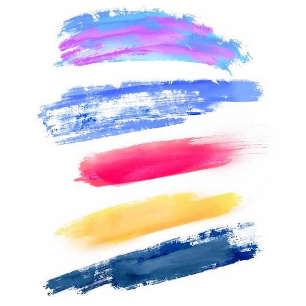 彩色涂鸦油墨水彩色块695800png图片免抠素材