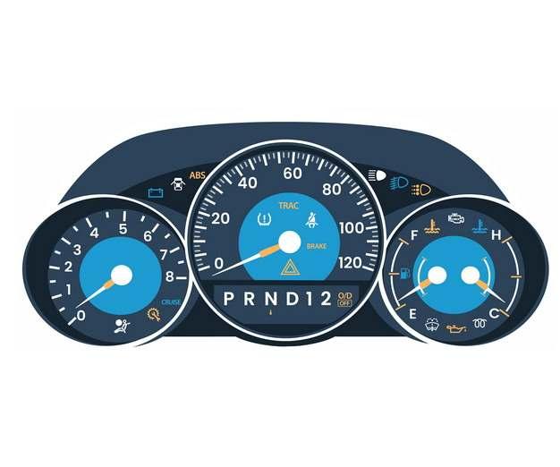 一款蓝色的汽车仪表盘722880png图片免抠素材