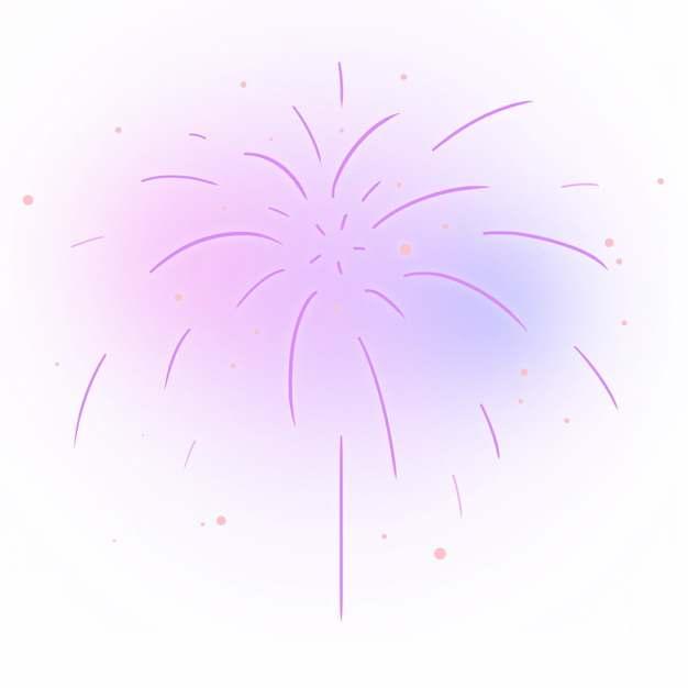 紫色烟花礼花绽放效果723552png图片素材