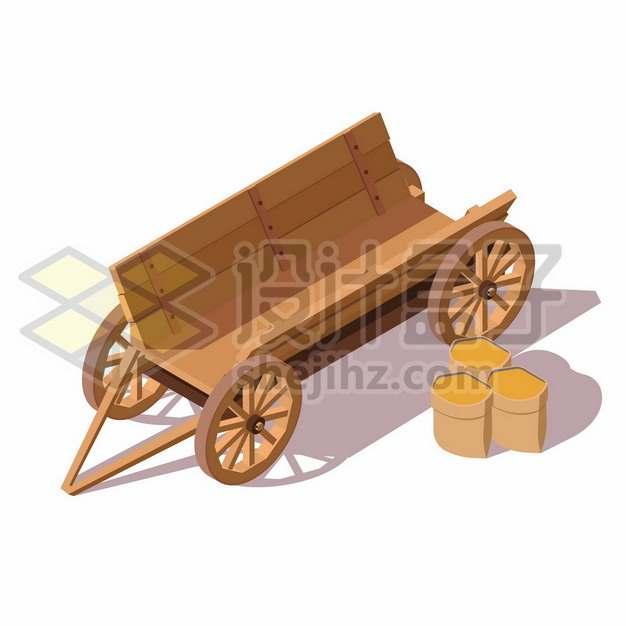 农村木制推车马车272062背景图片素材