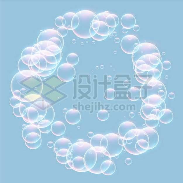 彩色气泡水泡组成的圆圈491229png矢量图片素材