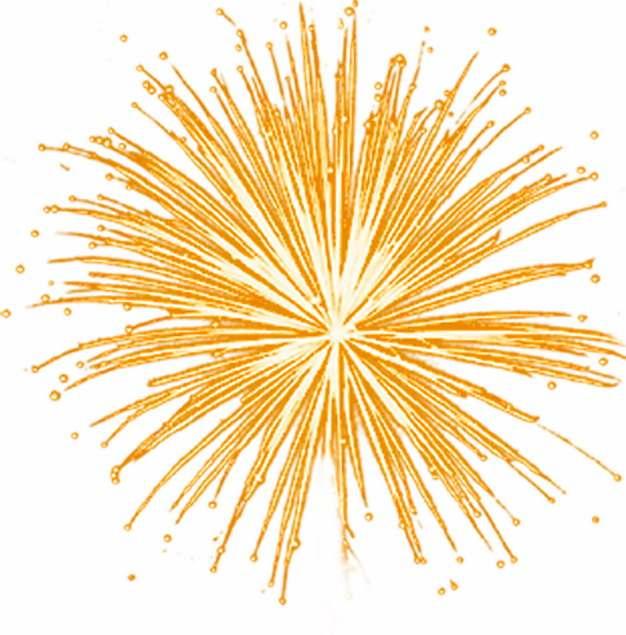 绽开的黄色烟花礼花效果650468png图片素材