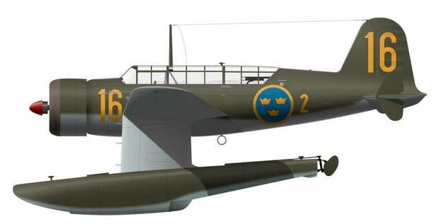 一架水上飞机二战战斗机725741png图片免抠素材