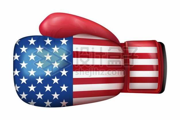 印有美国国旗的拳击手套象征了美国实力728724矢量图片免抠素材